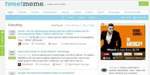 TweetMeme Homepage